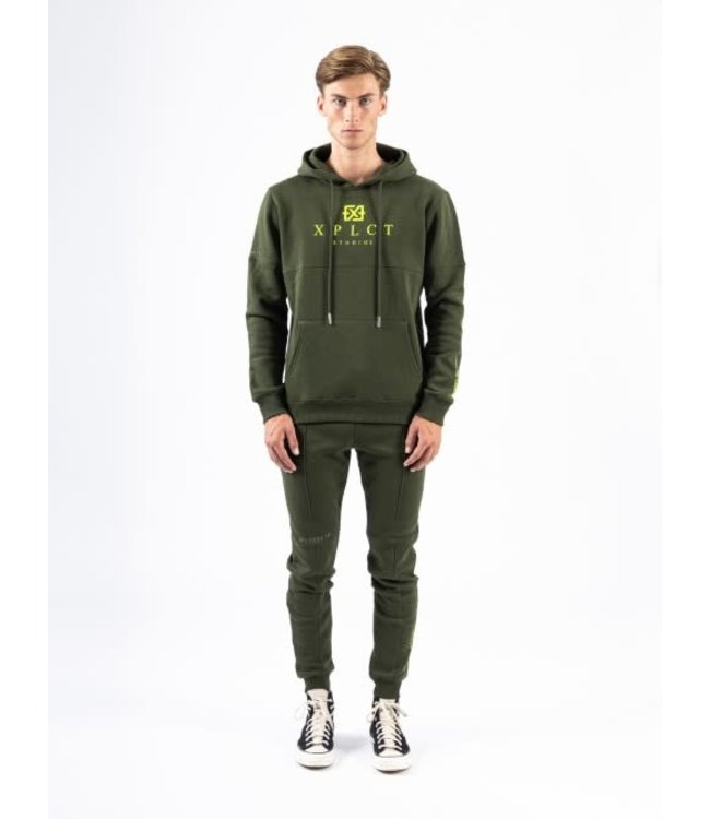 XPLCT BRAND HOODIE - ARMY