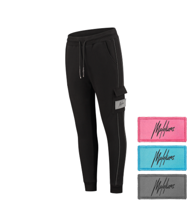MALELIONS VELCRO TRACKPANTS - BLACK