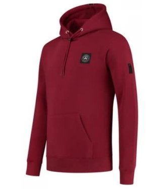 QUOTRELL COMMODORE HOODIE - BORDEAUX