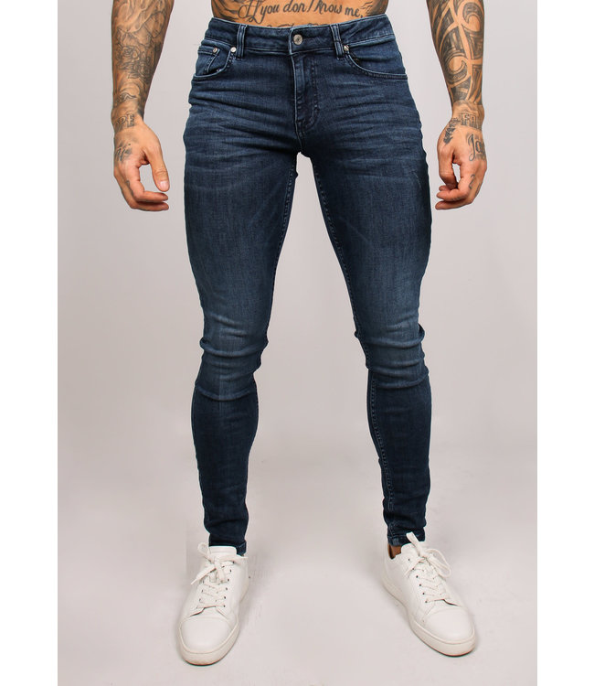 2LEGARE NOAH STRETCH JEANS - SOLID BLUE (202)