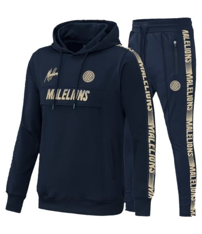MALELIONS SPORT WARMING UP TRACKSUIT - BLUE/NAVY GOLD