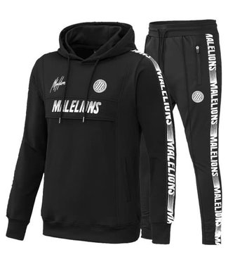 MALELIONS SPORT WARMING UP TRACKSUIT - BLACK/WHITE
