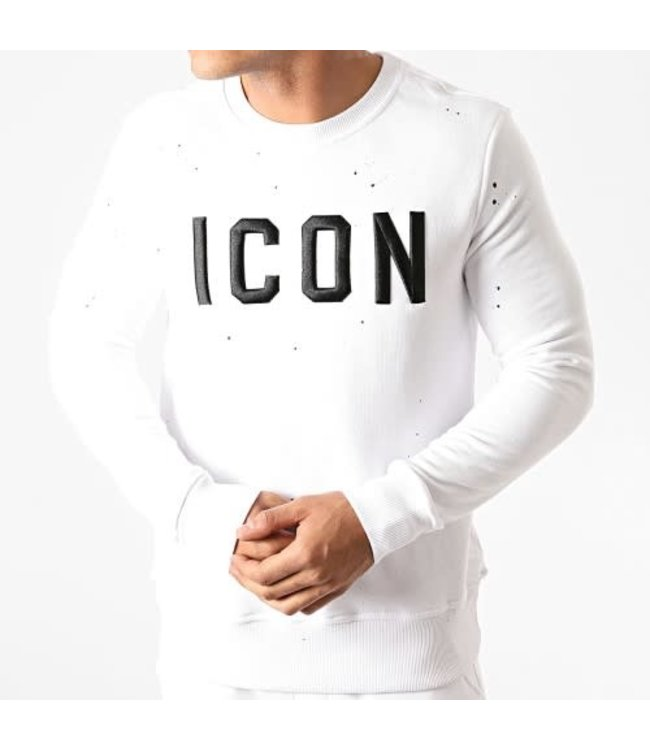 UNIPLAY ICON SWEATER - WHITE (HD-54)