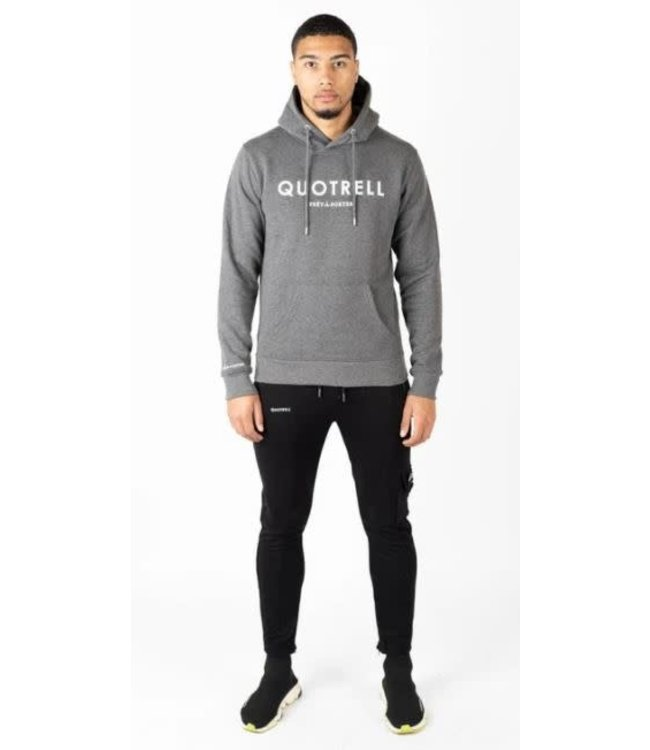 QUOTRELL BASIC HOODIE - DARK GREY