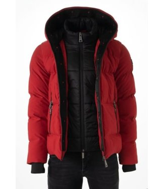 AB LIFESTYLE HOODED DOWN JACKET - RED