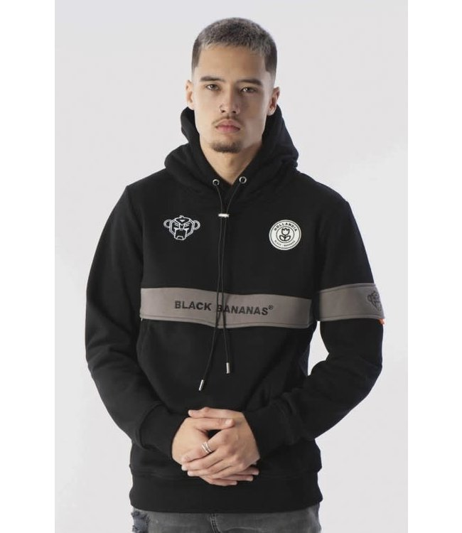 BLACK BANANAS ANORAK CAPTAIN HOODY - BLACK