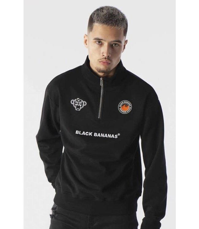 BLACK BANANAS ZIP-UP SWEAT - BLACK