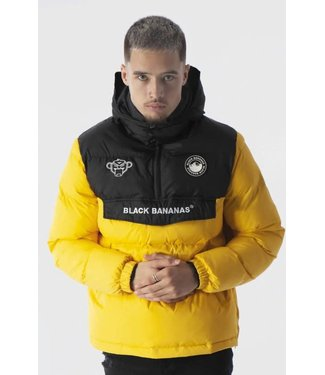 BLACK BANANAS ANORAK BLOCK JACKET - YELLOW