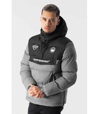 BLACK BANANAS ANORAK BLOCK JACKET - GREY
