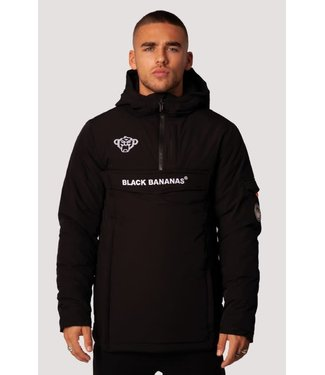 BLACK BANANAS ANORAK TECHNICAL JACKET - BLACK