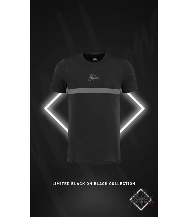 MALELIONS TONNY T-SHIRT 2.0 BLACK FRIDAY - BLACK/ANTRA