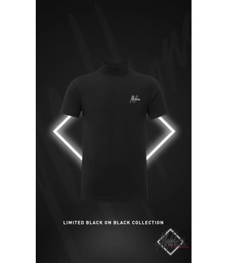 MALELIONS TURTLENECK T-SHIRT BLACK FRIDAY - BLACK/ANTRA
