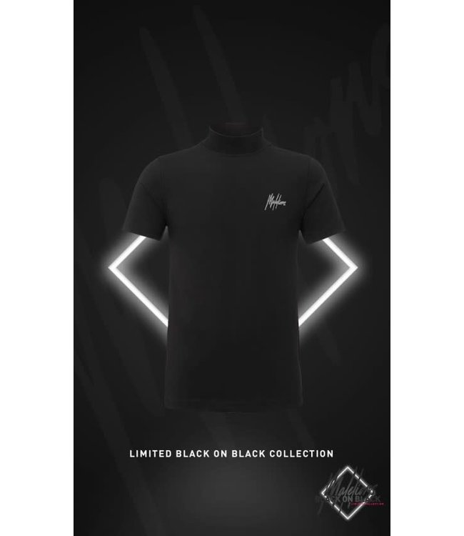 MALELIONS TURTLENECK T-SHIRT BLACK FRIDAY - BLACK/ANTRA