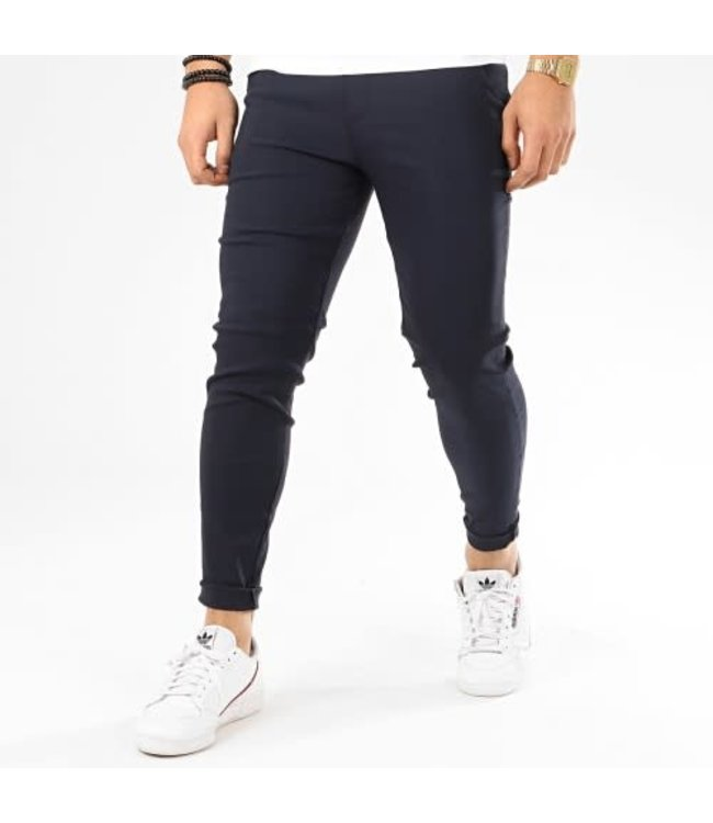FRILIVIN STRETCH PANTALON - DARK BLUE (1697)