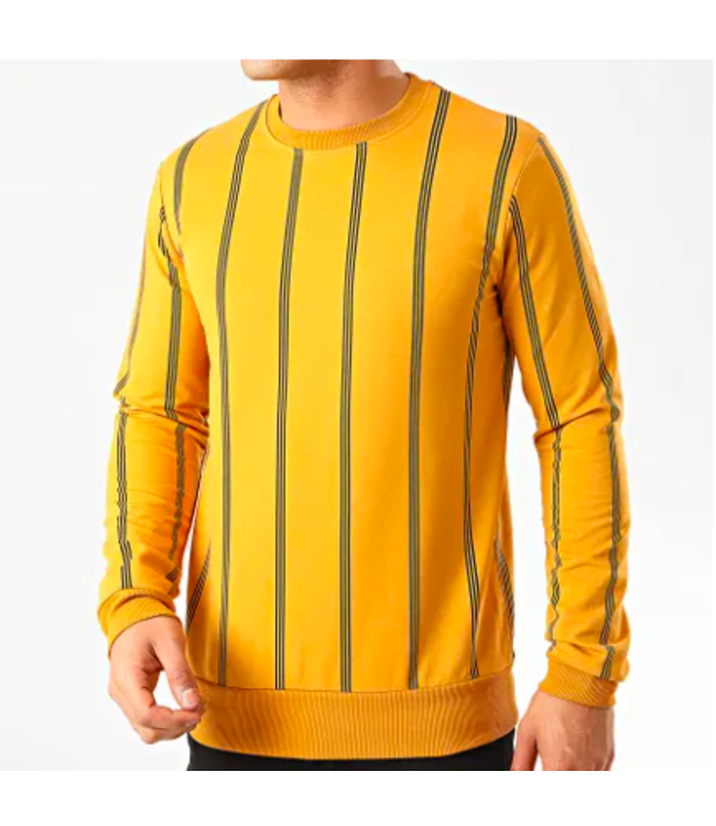 FRILIVIN Striped Crewneck - Yellow/Black (090)