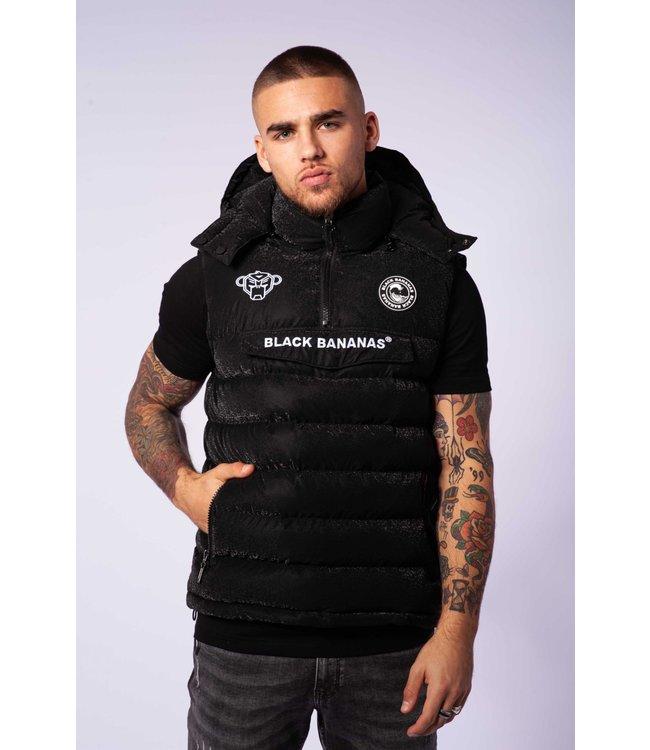 BLACK BANANAS Anorak Block Bodywarmer - Black