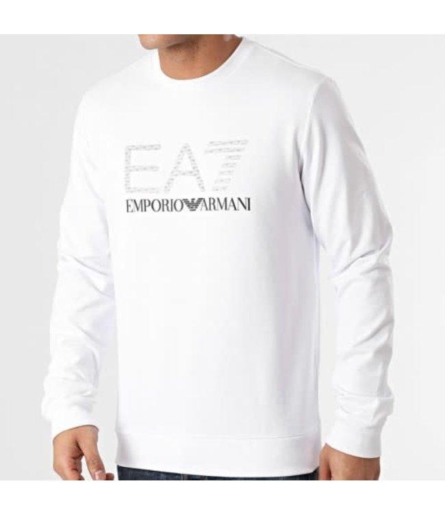 EA7 EMPORIO ARMANI 3D Logo Print Sweater - White (3KPMD7)