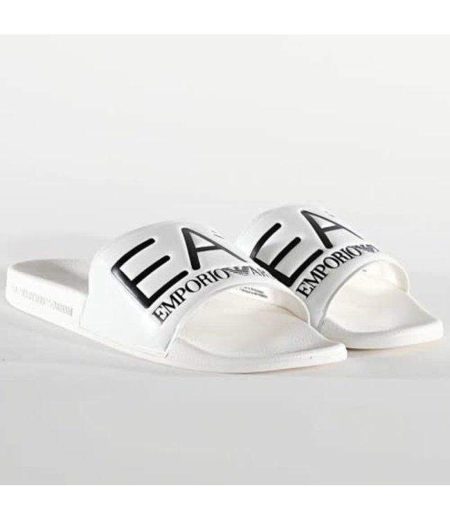 EA7 EMPORIO ARMANI Slippers - White/Black (XCP001)