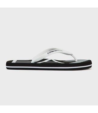 EA7 Emporio Armani Slippers Flip Flops - Black/White (XCQ004)