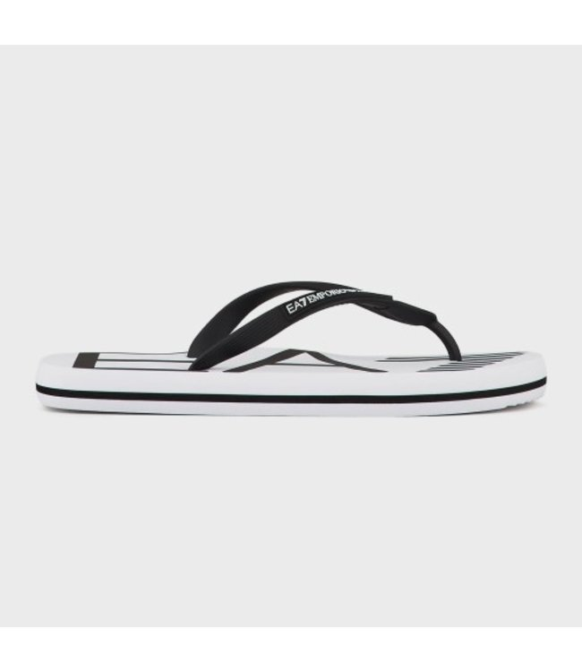 EA7 EMPORIO ARMANI Slippers Flip Flops - White/Black (XCQ004)
