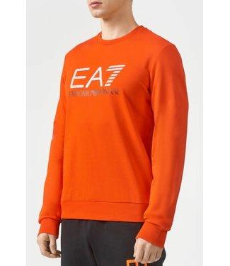 EA7 Emporio Armani 3D Logo Print Sweater - Fiery Red (3KPMD7)