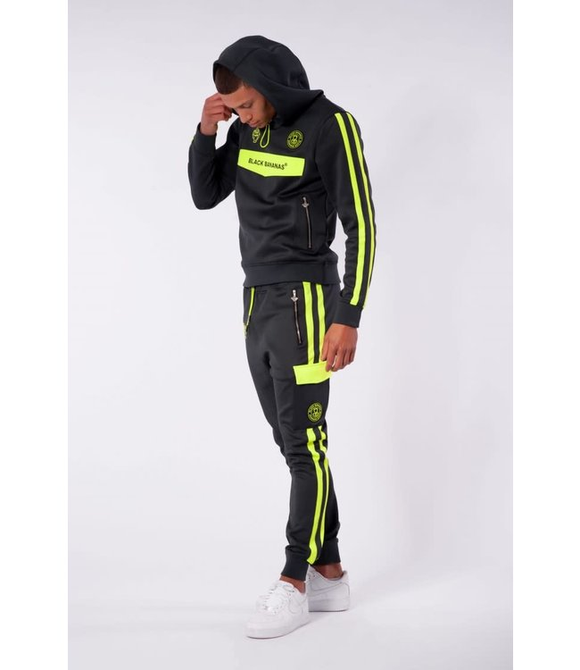 BLACK BANANAS Match Tracksuit - Grey