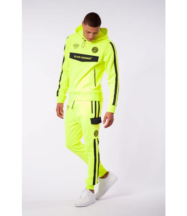 BLACK BANANAS Match Tracksuit - Neon Yellow