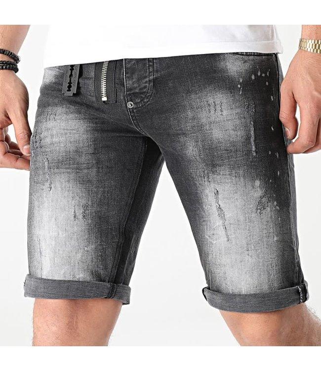 UNIPLAY Skinny Fit Short Jeans - Black (343)