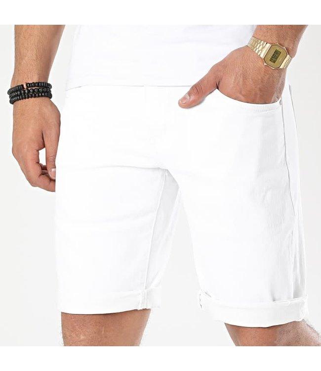 FRILIVIN Slim Fit Short Jeans - White (JD-209)