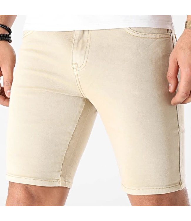 FRILIVIN Slim Fit Short Jeans - Beige (VJ233)