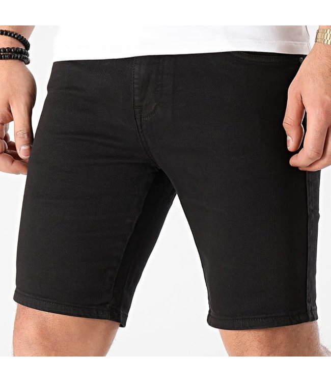 FRILIVIN Slim Fit Short Jeans - Black (VJ233)