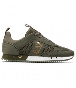 EA7 EMPORIO ARMANI Sneakers - Military Green/Bronze  (X8X027)
