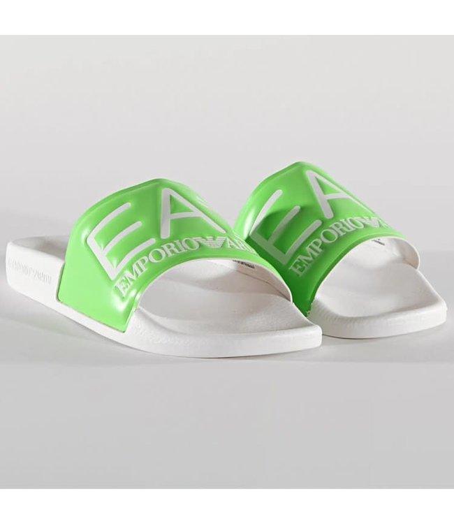EA7 Emporio Armani Slippers - White/Green (XCP001)
