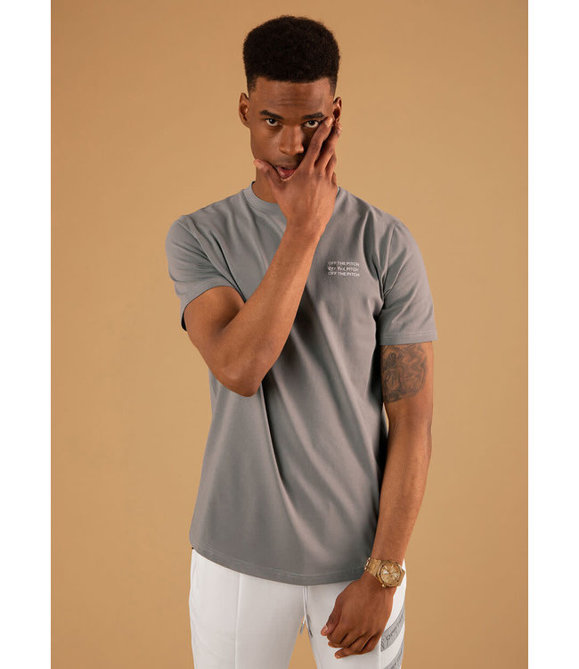 OFF THE PITCH The Saturn Slim Fit Tee - Grey