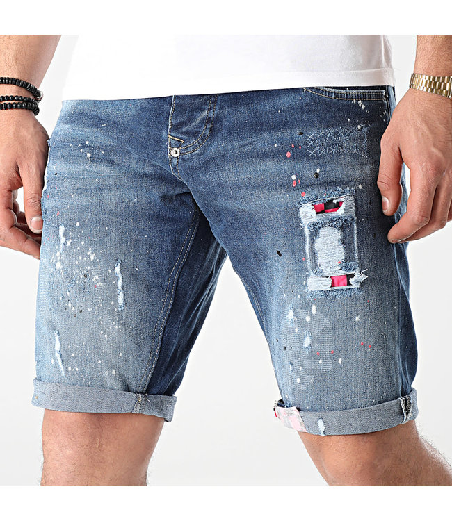 UNIPLAY Skinny Fit Short Jeans - Blue (365)