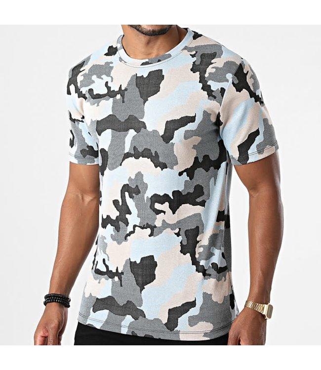 Frilivin T-Shirt Camo - Blue (15251)