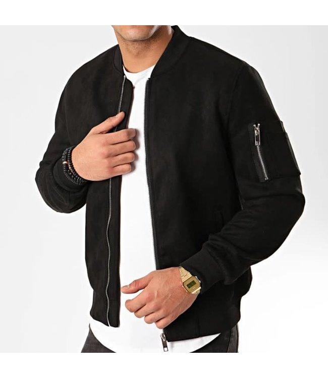 Frilivin Suede Jacket - Black (BB003-1)