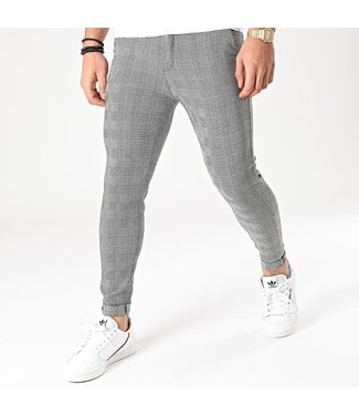 Frilivin Checkerd Stretch Pantalon - Grey (1866)