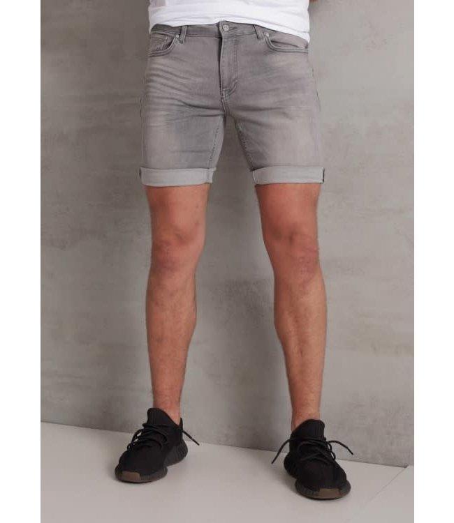 2Legare Noah Stretch Short Jeans - Light Grey (104)