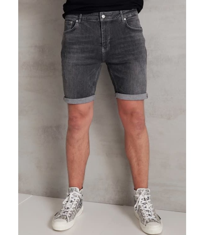 2Legare Noah Stretch Short Jeans - Mid Grey (103)