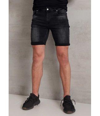 2Legare Noah Stretch Short Jeans - Black (102)