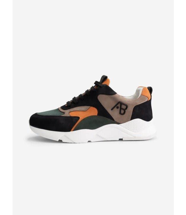 AB Lifestyle Runners - Dark Green/Orange