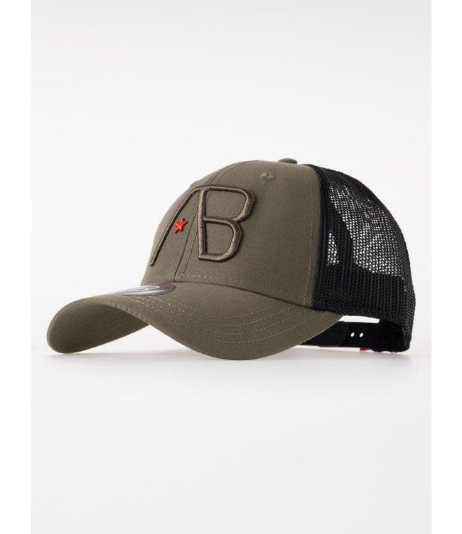 AB Lifestyle Retro Trucker Cap 2Tone - Black/Army Green