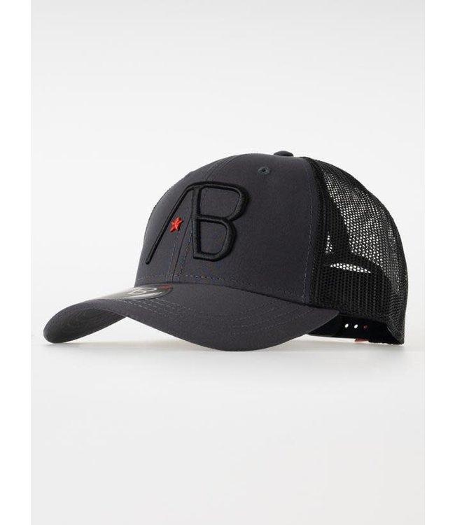 AB Lifestyle Retro Trucker Cap 2Tone - Black/Dark Grey