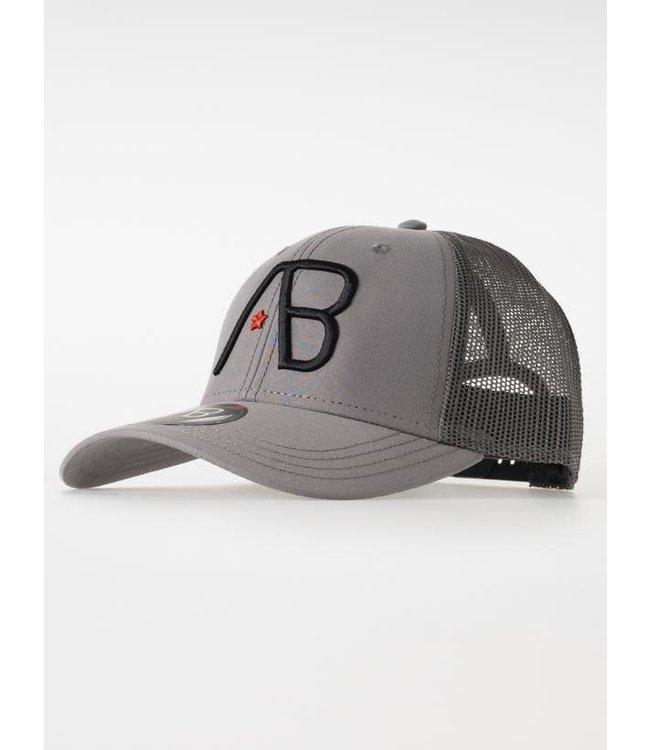 AB Lifestyle Retro Trucker Cap 2Tone - Grey/Dark Grey