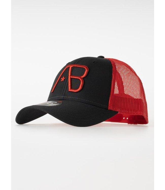 AB Lifestyle Retro Trucker Cap 2Tone - Red/Black