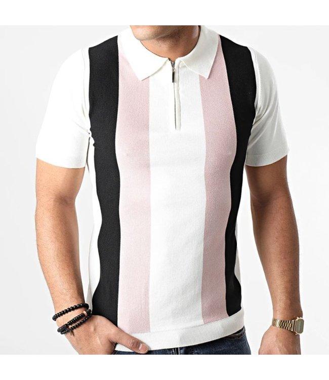 Frilivin Polo - White/Pink (FA5011-15)
