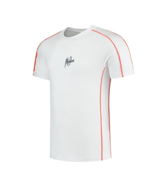 Malelions Thies T-Shirt 2.0 - White/Salmon