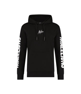 Malelions Lective Hoodie - Black/White
