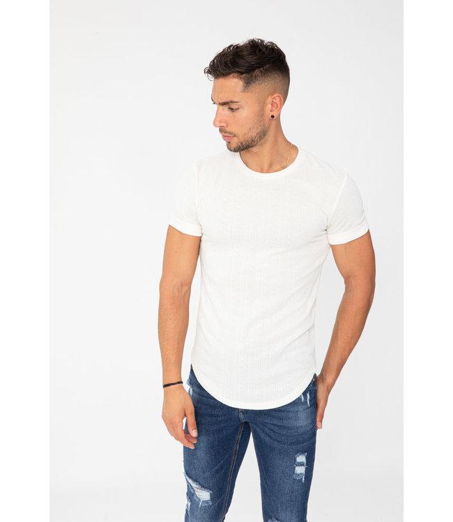 Frilivin Monogramme  T-shirt - Wit (U9060 W/W)